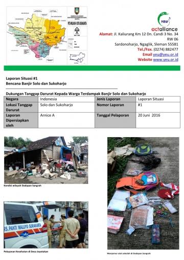 Laporan Situasi #1 Bencana Banjir Solo dan Sukoharjo